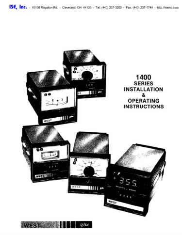Installation and Operation Manual For  West 1400 Series Controllers