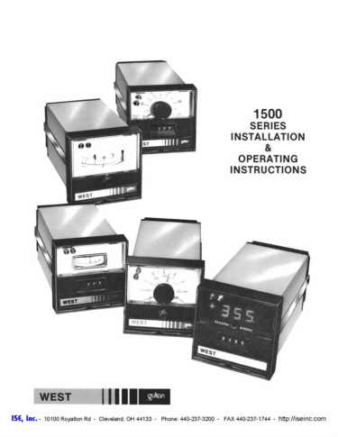 Installation and Operation Manual For  West 1500 Series Controllers