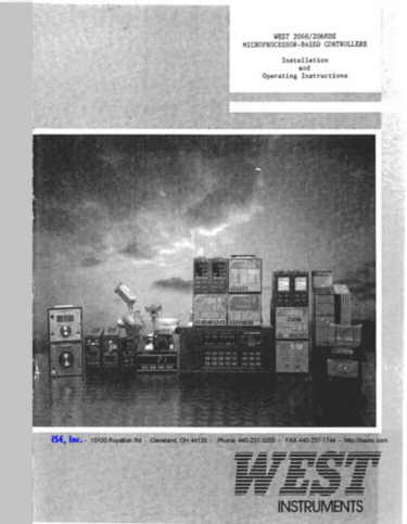 Installation and Operation Manual For  West 2068 and 2068DS Series Controllers