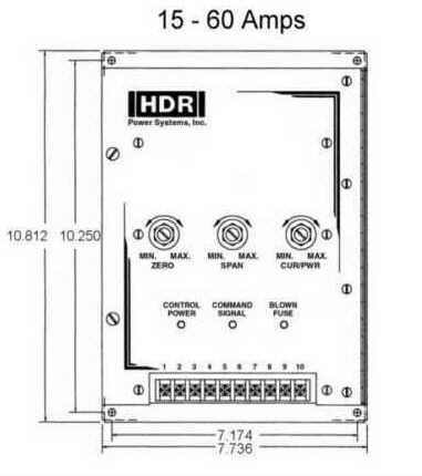SCR Power Control SHPF1 15-60A Dimensions