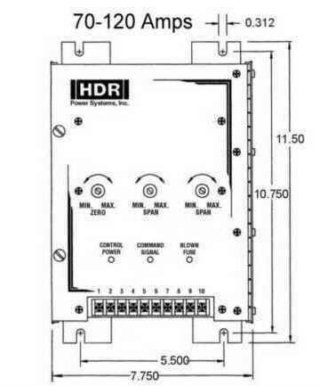 SCR Power Control SHPF1 70-90 Dimensions