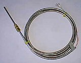 J20M28F A=6 in B=6 FT. / Straight 6 Inch (3/16 In Diameter) Probe / 6 Ft leads / 1/8 NPT Brass Compression Fitting / Type J