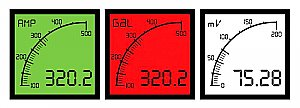 Trumeter APM-AMP-APN Digital Bar Graph Meter Lighted Background (Positive) Display, 0-5 Amp AC or DC Input
