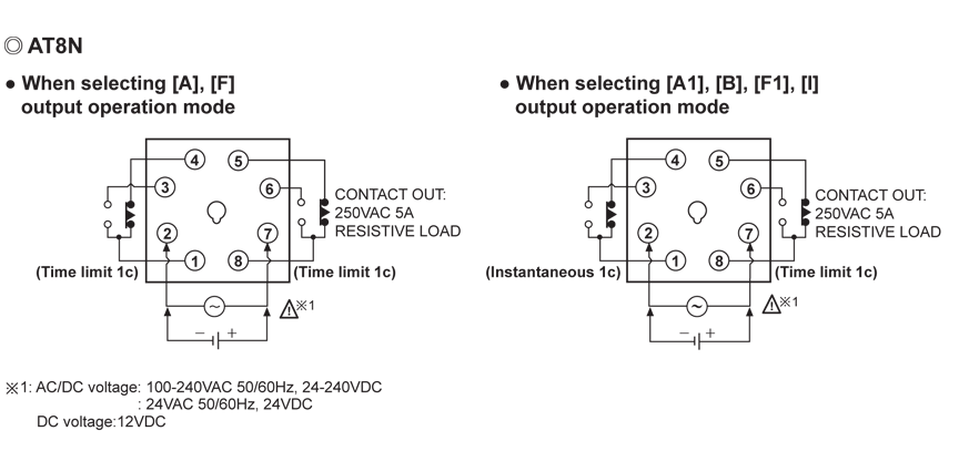 AT8N AT8DN Timer Wiring